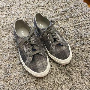 Superga Grey Plaid Lace Up Shoes